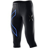 2XU W's Compression 3/4 Tights Black/Blue logo